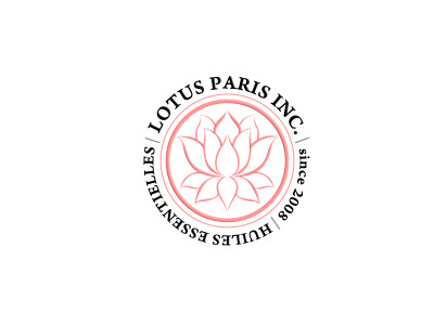 LOTUS PARIS INC. Huiles essentieles; Identidad corporativa
