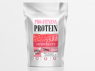 PROFITNESS PROTEIN -strawberry flavour- Packaging