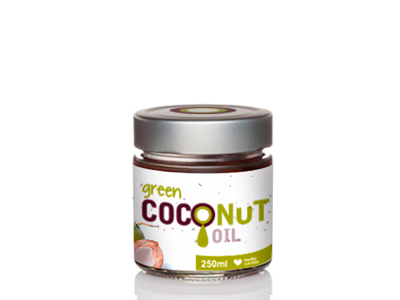 Green COCONUT OIL- Packaging